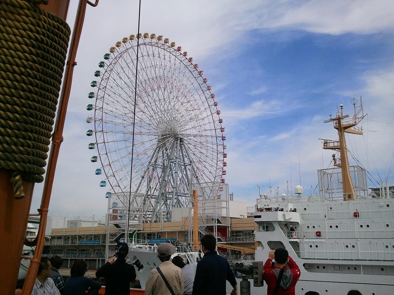 觀光船與摩天輪