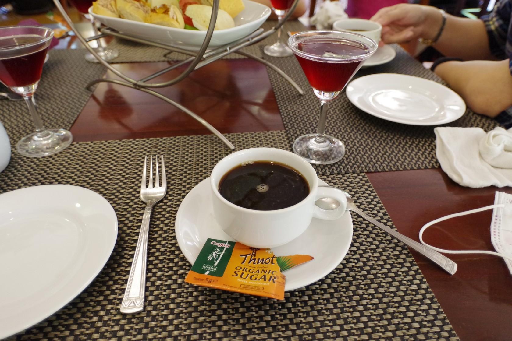 飯店下午茶,柬埔寨咖啡搭配棕糖