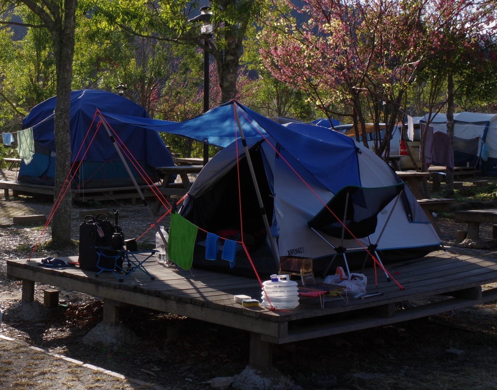 本次露營帳篷與裝備