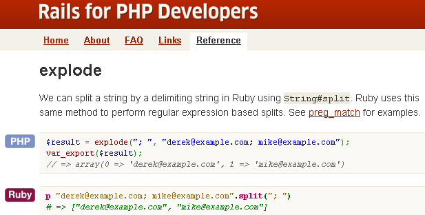 rails for php developers sample
