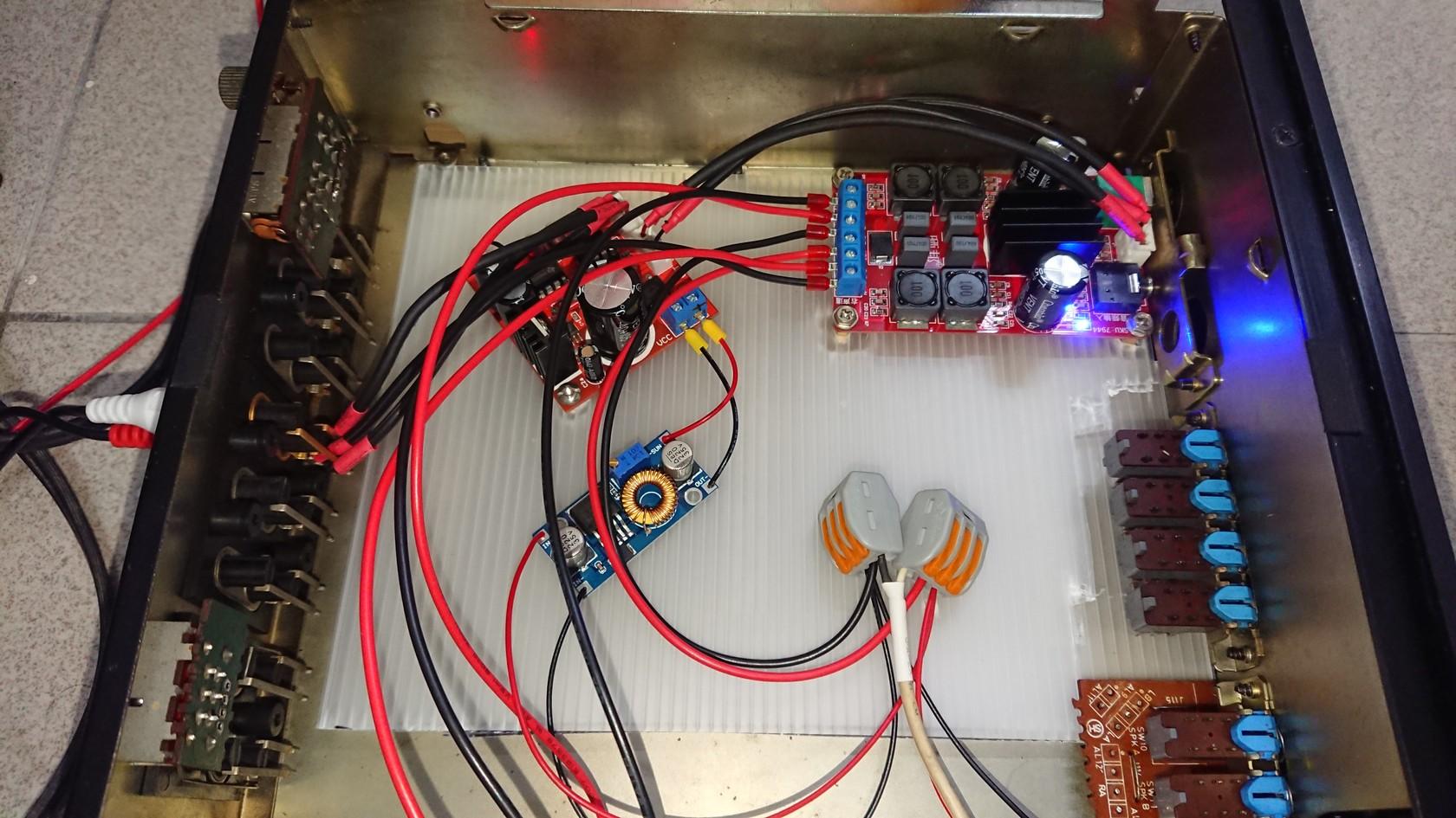 前、級模組與電源降壓模組結合